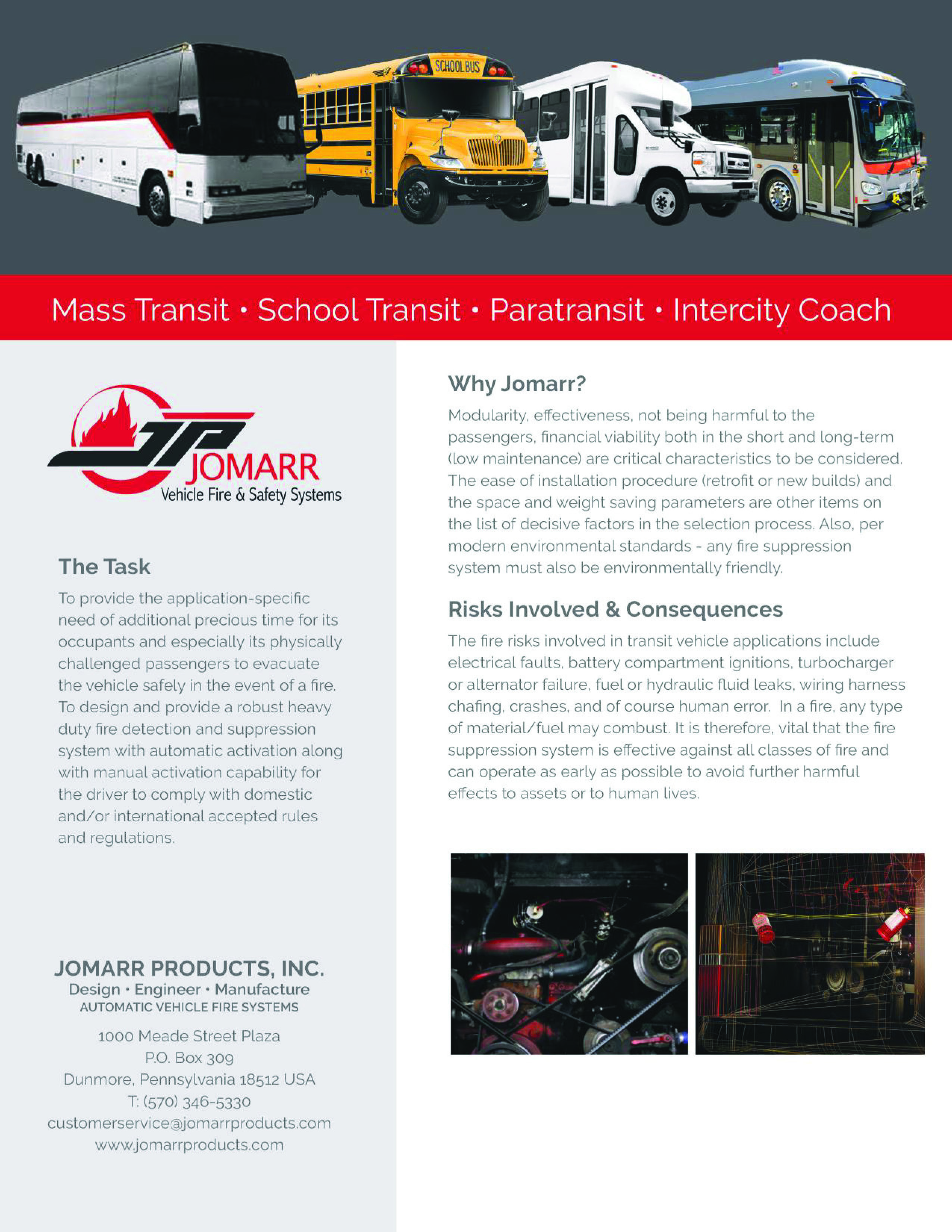JOMARR AGX BUS WHY mass transit fire suppression